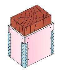 Montáž obkladů dřevěných nosníků a sloupů