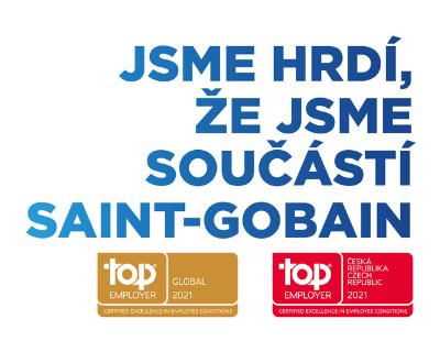 Již po šesté v řadě získala skupina Saint-Gobain certifikaci TOP EMPLOYER