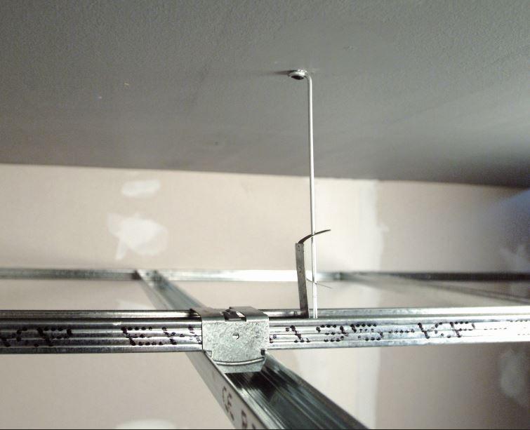 Nosná konstrukce podhledů z ocelových tenkostěnných pozinkovaných profilů