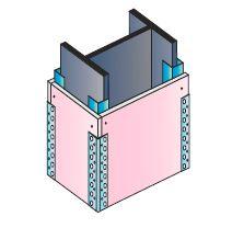 Montáž obkladů ocelových nosníků a sloupů